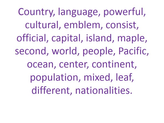 What do you know about the English-speaking countries?