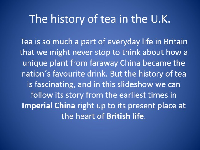 Drinking Tea - The British Way
