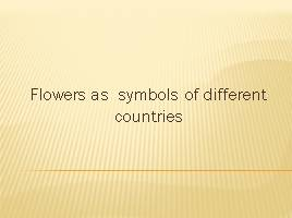 Flowers as symbols of different countries