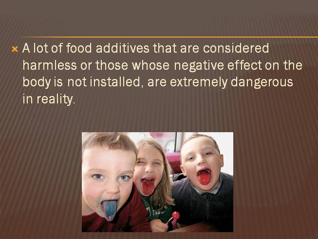 Harmful food additives - Вредные пищевые добавки