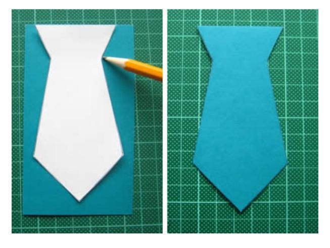 Как делать галстук из бумаги для открытки, днем рождения