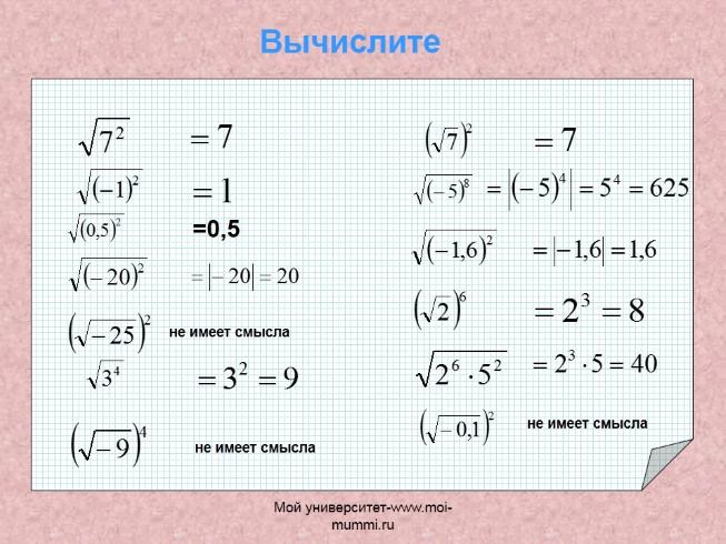 Решения задач квадратных корней каталог задач по математике решу егэ