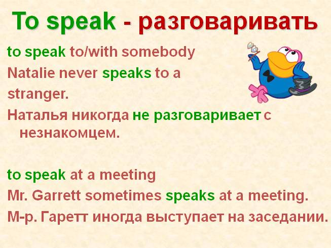 Глаголы say, speak, tell, talk