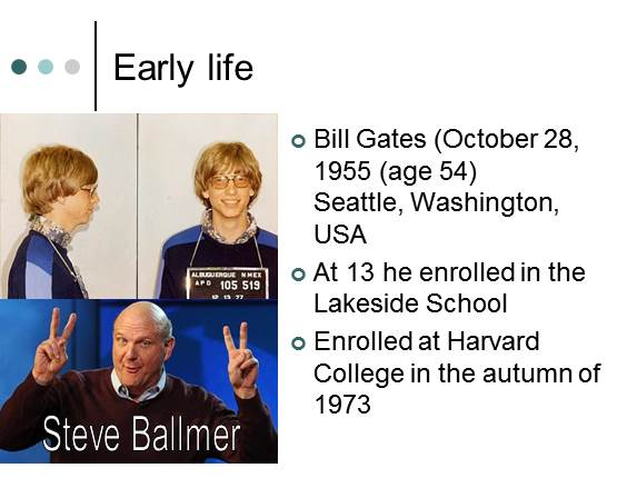 the early life and education of bill gates