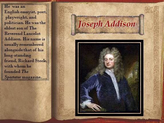 joseph addison essays summary