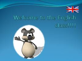 Welcome to the English class!!!!
