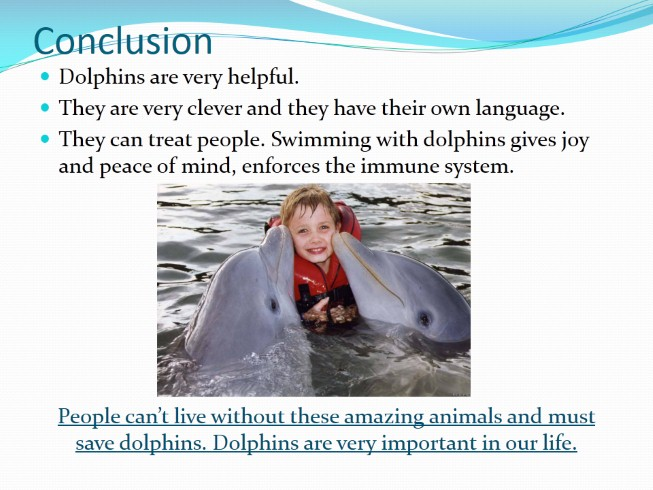 Проект «Дельфины» - Subject «Dolphins are the most mysterious animals on the planet»