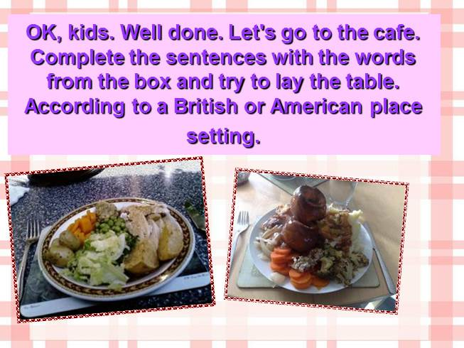 English food and tables manners