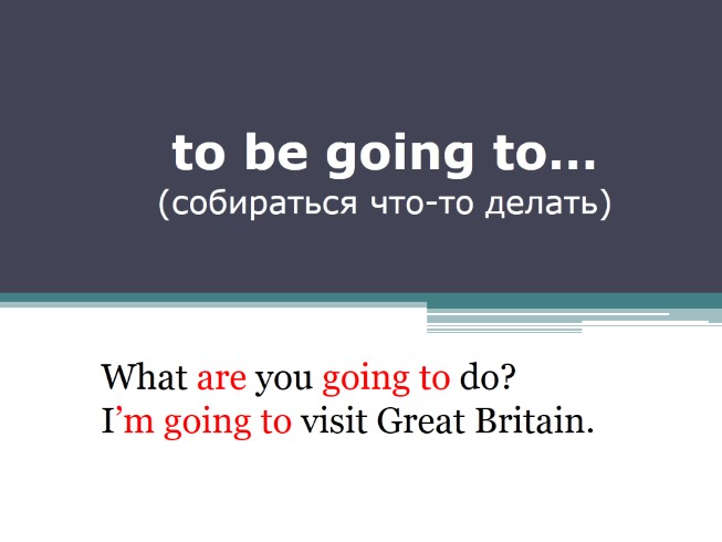 To be going to… - Собираться что-то делать