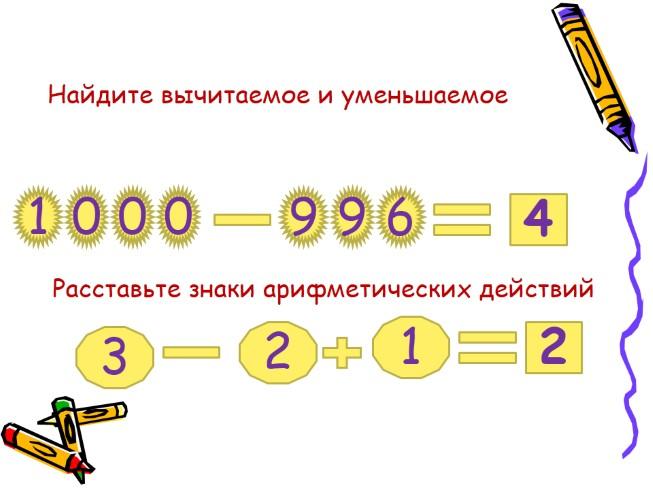 Математические викторины во 2 и 3 классе