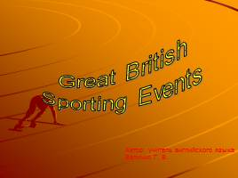 British Sporting Events