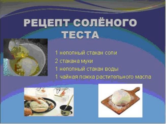 Рецепты приготовления солёного теста для лепки