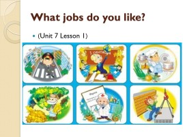What jobs do you like?