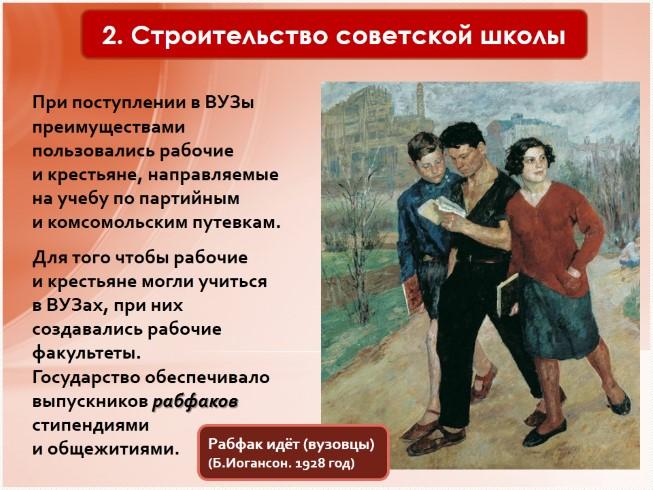 борьба с неграмотностью строительство советской школы презентация