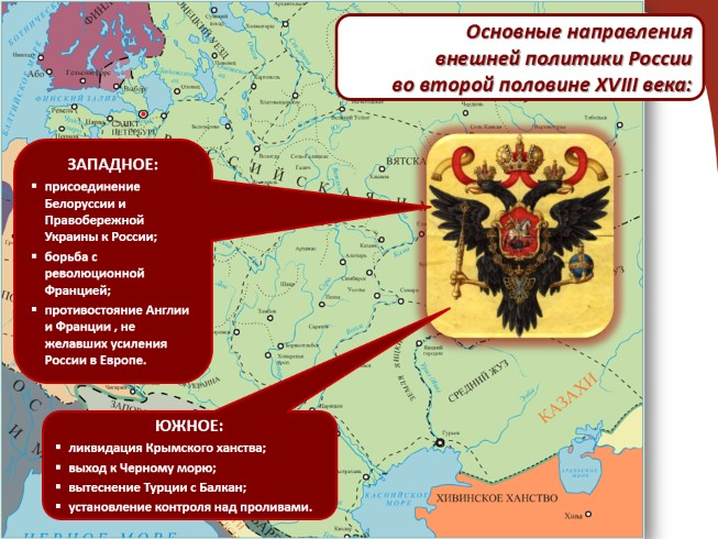 Презентация - Внешняя политика Екатерины II