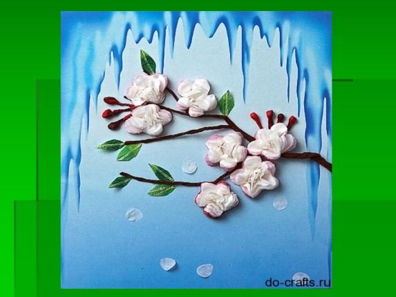 Весенний цветок своими руками