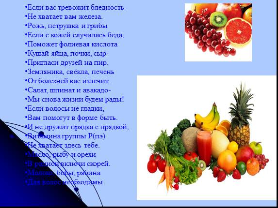 разговор о правильном питании 1 класс
