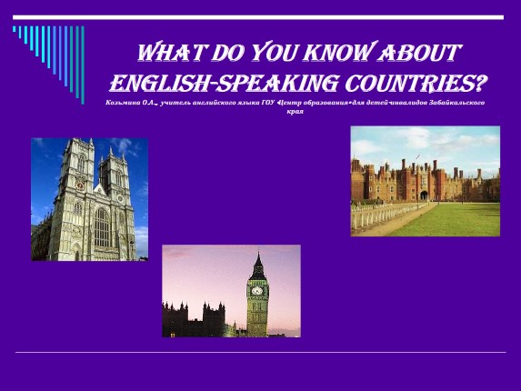 Викторина «What do you know about English-speaking countries?»