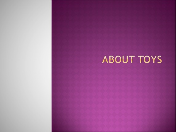About toys