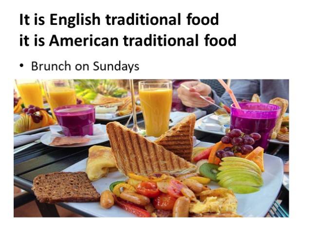 Meals in England. Meals in the USA (11 класс)