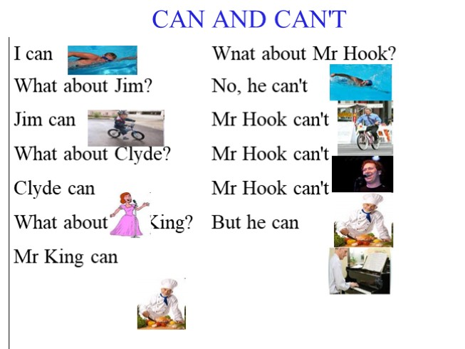 Can/Can't (6 класс)