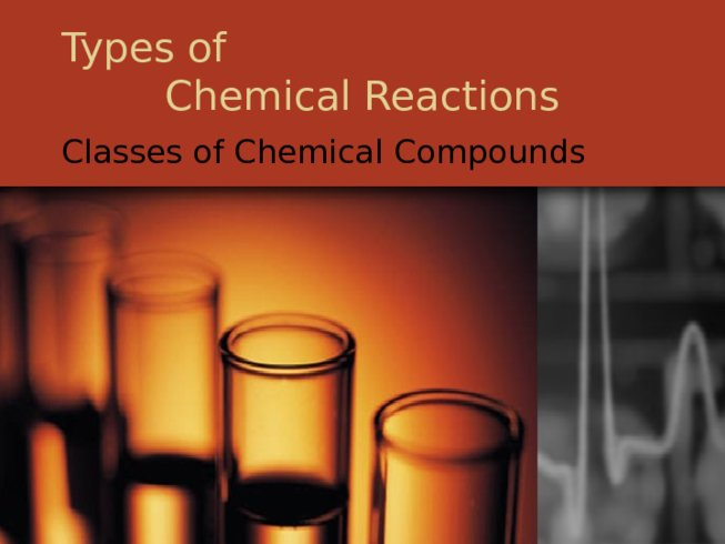 Types of Chemical Reactions Classes of Chemical Compounds