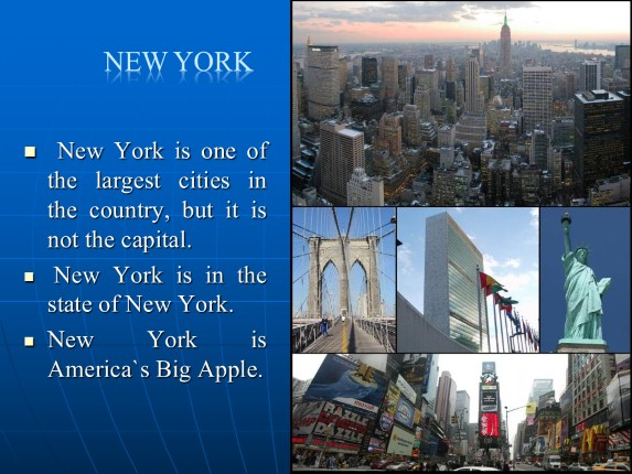 The USA - Welcome to New York