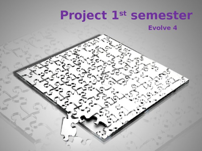 Project 1 st semester