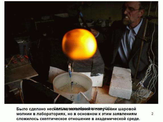 Сонник шаровая молния в лабораторных условиях счастливым