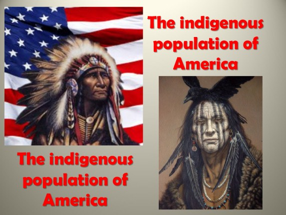 The indigenous population of America