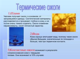 Ожоги картинки для презентации