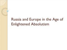 Russia and europe in the age of enlightened absolutism