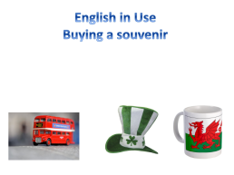 English in use buying a souvenir