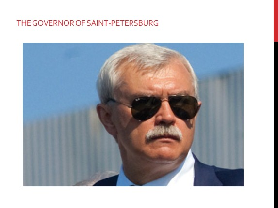 The governor of Saint Petersburg