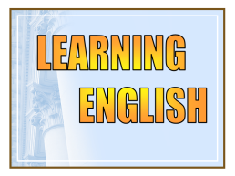 Learning english, слайд 1