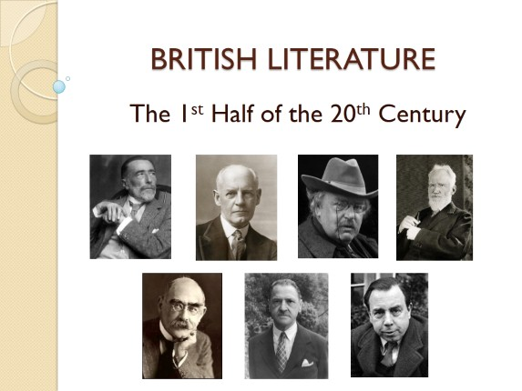 British Authors the 1st Half of the 20th Century