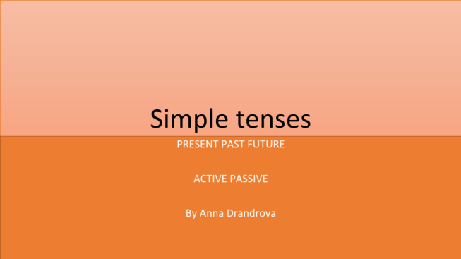 Simple tenses. Present past future active passive by anna drandrova
