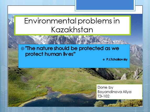 Environmental problems in Kazakhstan
