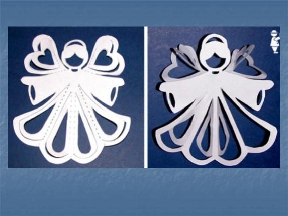Как сделать украшения из белой бумаги