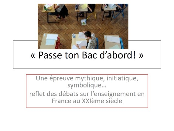 Passe ton Bac d'abord!