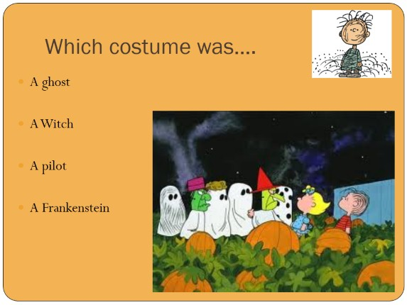 Quiz «It's the Great Pumpkin, Charlie Brown!»