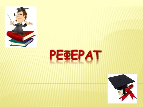 Презентация Реферат  Реферат