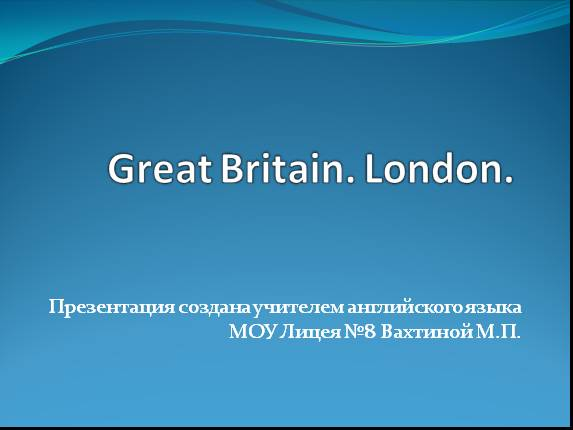 Great Britain - London