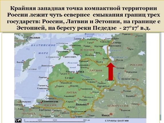 Где находится южная точка россии