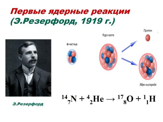 """Презентация """"Ядерные реакции - Энергия связи атомного ядра"""""""