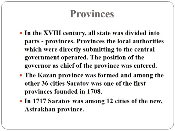 The History of Saratov