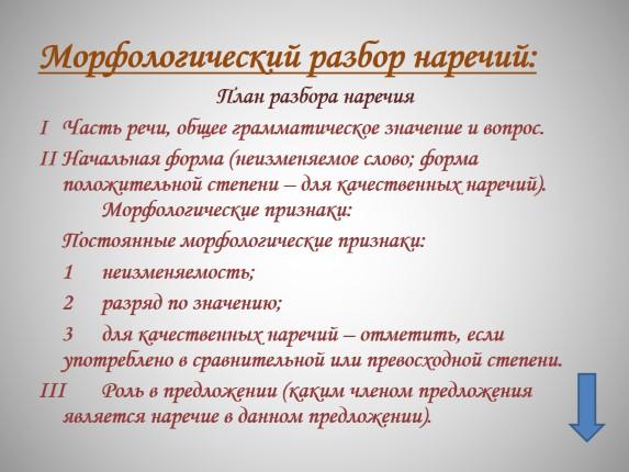 """Презентация """"всё о наречии - русский язык 5-11 класс""""."""
