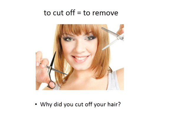 Phrasal verb «to cut»