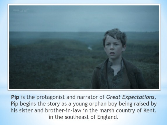 the character and actions of the protagonist pip in great expectations