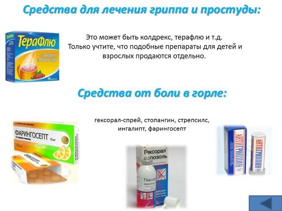 Простуда грипп лечение препараты взрослых